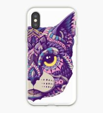 Cat Head (Color Version) iPhone Case