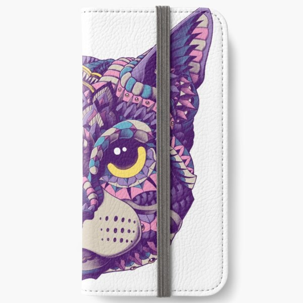 Cat Head (Color Version) iPhone Wallet