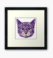 Cat Head (Color Version) Framed Print