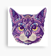 Cat Head (Color Version) Canvas Print