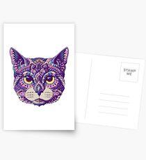 Postales Cabeza de gato (Versión en color)