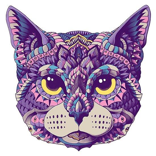 «Cabeza de gato (Versión en color)» de BioWorkZ