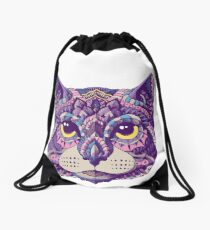 Cat Head (Color Version) Drawstring Bag