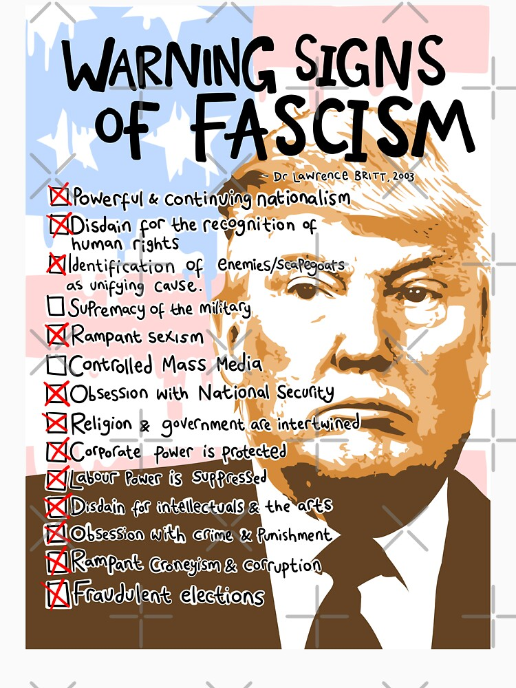 Image result for signs of fascism trump