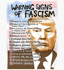 Trump & the 14 Warning Signs of Fascism. Poster
