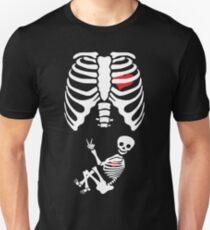 Halloween X Ray Maternity Pregnant Costume Unisex T-Shirt