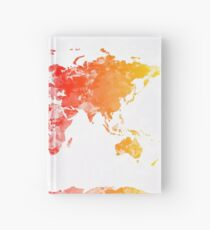 world map Hardcover Journal