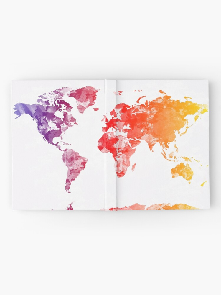 Alternate view of world map Hardcover Journal