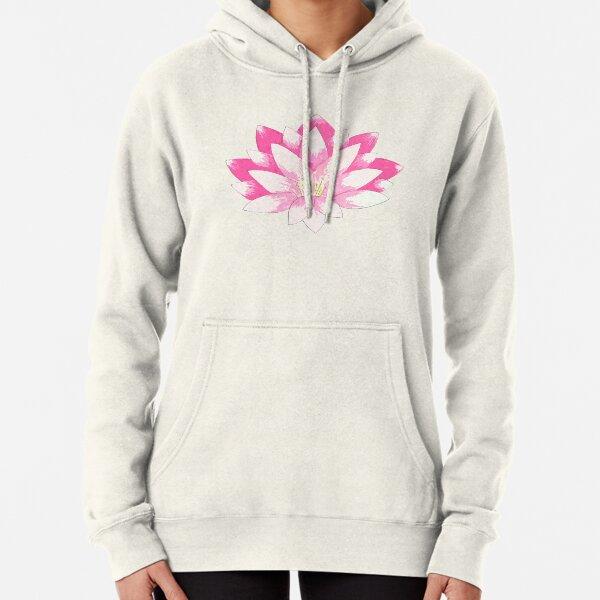 Pink Lotus Pullover Hoodie