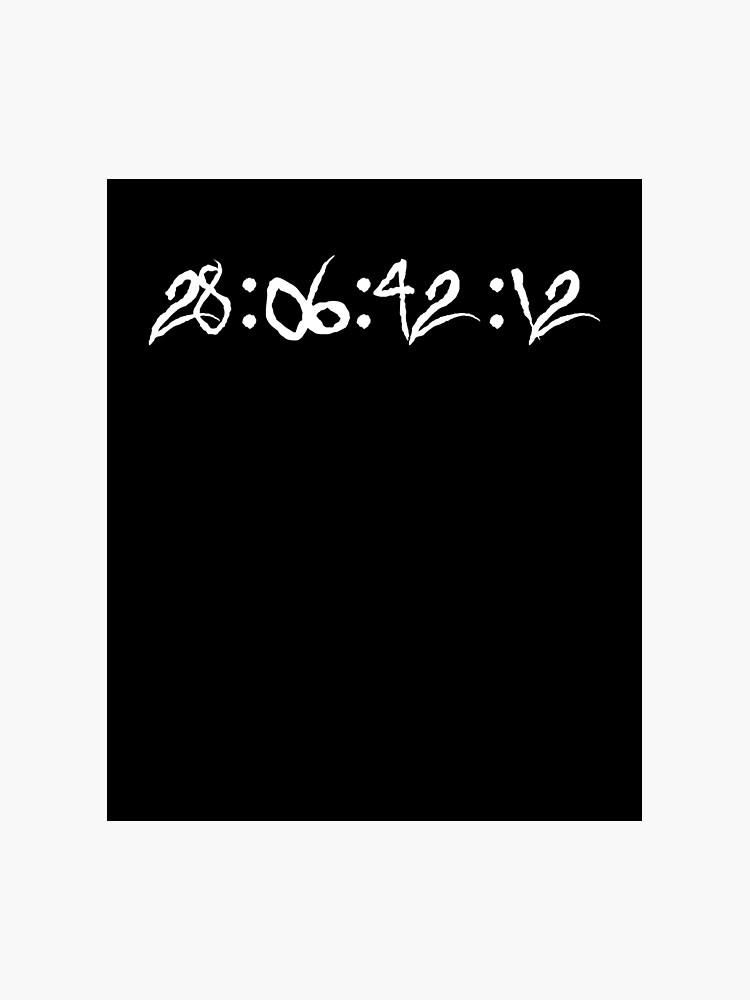 Donnie Darko 28:06:42:12 Frank The Bunny Quote | Photographic Print
