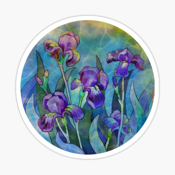 Irises watercolor Sticker