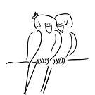 Parrots in Love :) by HoremWeb