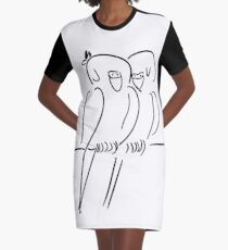 Parrots in Love :) Graphic T-Shirt Dress