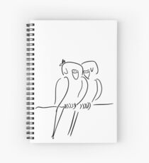 Parrots in Love :) Spiral Notebook