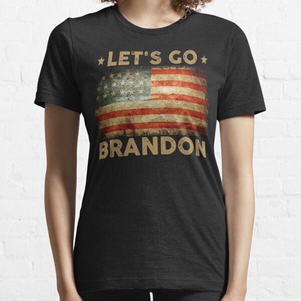 Let's Go Brandon American Flag Impeach Biden  Essential T-Shirt
