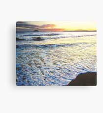 Foamy Tide At Garryvoe Beach Canvas Print