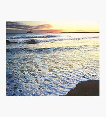 Foamy Tide At Garryvoe Beach Photographic Print