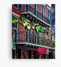 Bourbon Street Facade Canvas Print