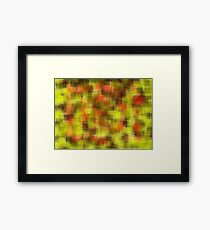 yellow orange and black painting Framed Print