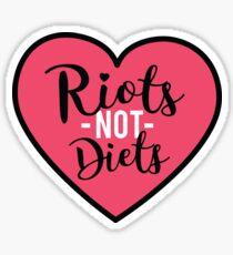 Feminist sticker - riots not diets Sticker