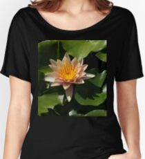 Exotic Colors - A Soft Coral Waterlily Women's Relaxed Fit T-Shirt