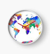 Weltkarte Uhr