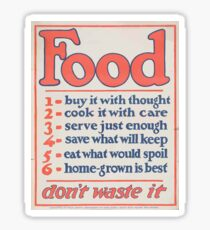 United States Department of Agriculture Poster 0266 Food Don't Waste it Sticker