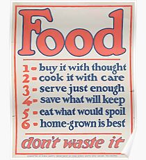 United States Department of Agriculture Poster 0266 Food Don't Waste it Poster