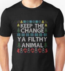 Keep The Change Ya Filthy Animal Christmas T-Shirt