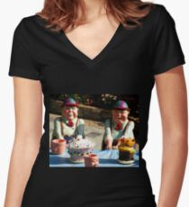 Tweedledum and Tweedledee Women's Fitted V-Neck T-Shirt