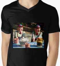 Tweedledum and Tweedledee Mens V-Neck T-Shirt