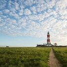 Happisburgh Lighthouse, Norfolk, UK. by Graham Gilmore