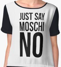 MOSCHINO - I JUST SAY MOSCHINO Chiffon Top