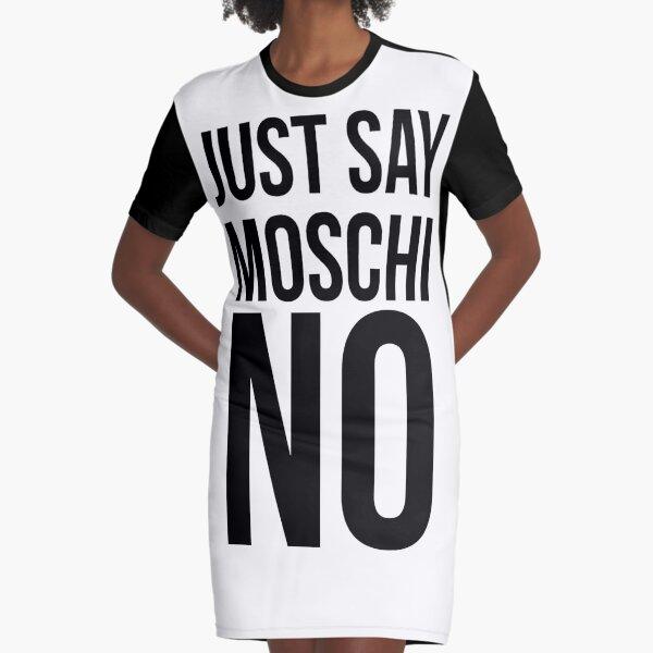 MOSCHINO - I JUST SAY MOSCHINO Graphic T-Shirt Dress