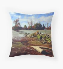 Shady Island - Steveston BC Throw Pillow