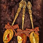Hand painted Christmas spoons by vigor