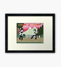 characters video game Framed Print