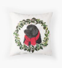 Snuggled in Scarf Throw Pillow