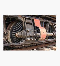 Train Gears Photographic Print