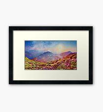Summer mountains Framed Print