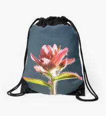 fusia alpine paint brush #1 Drawstring Bag
