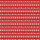 Leonberger Dog Silhouettes Christmas Sweater Pattern by Jenn Inashvili