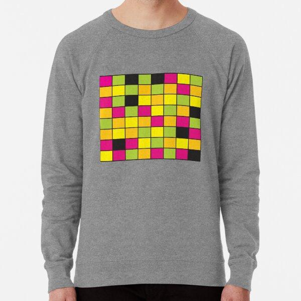 Bright Neon Colored Squares Pattern Lightweight Sweatshirt