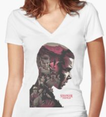 stranger things series Women's Fitted V-Neck T-Shirt