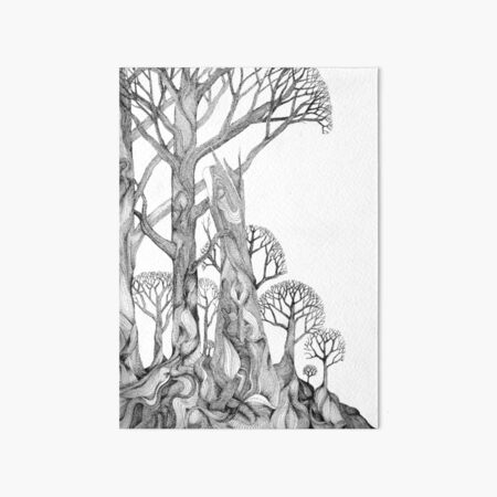 72Trees Art Board Print