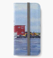 Fish Market - Port Stanley iPhone Wallet