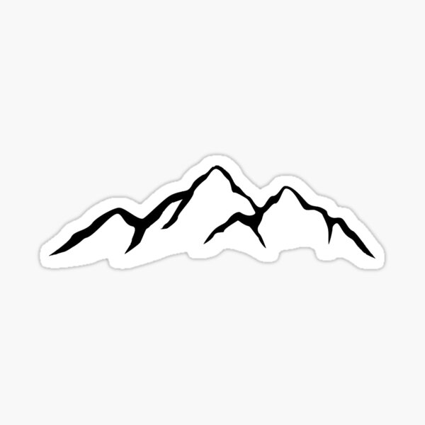 Montañas Pegatina