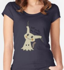Will you be my friend? Mimikyu Women's Fitted Scoop T-Shirt