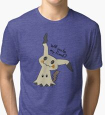 Will you be my friend? Mimikyu Tri-blend T-Shirt