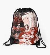 Kiss-Shot Yukata Drawstring Bag